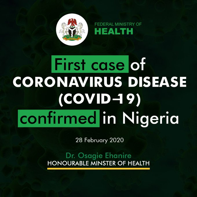 Health Minister Confirms First Case Of Coronavirus In Lagos Nigeria