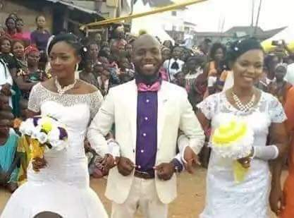 Man weds two wives at the same time