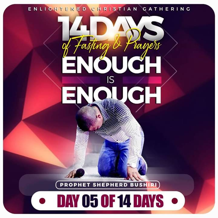 ENOUGH IS ENOUGH FASTING & PRAYER WITH MAJOR 1 – Day 5 Prayer Points
