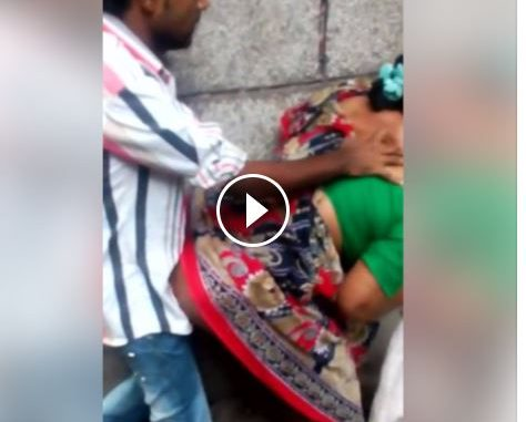 Video: Groom and mother in law caught on wedding day getting intimate in the toilet