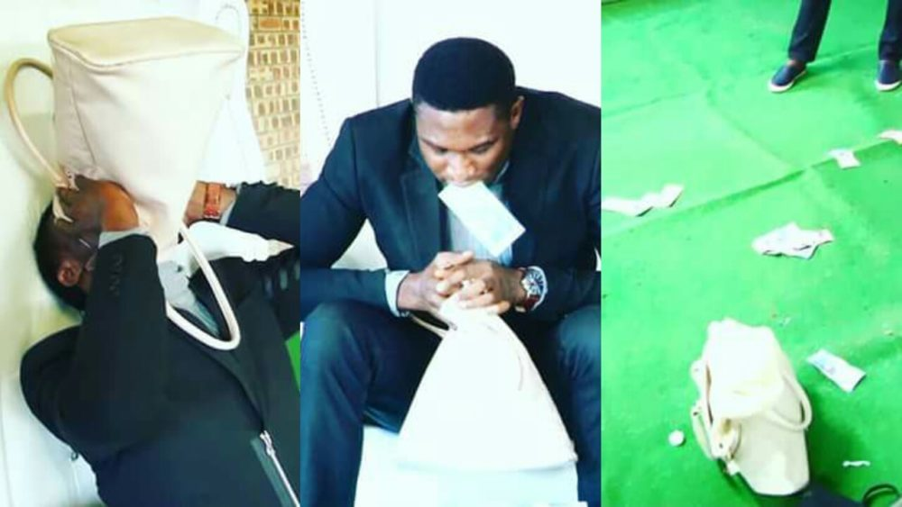 [VIDEO] Nigerian pastor vomiting 'miracle money' during church service