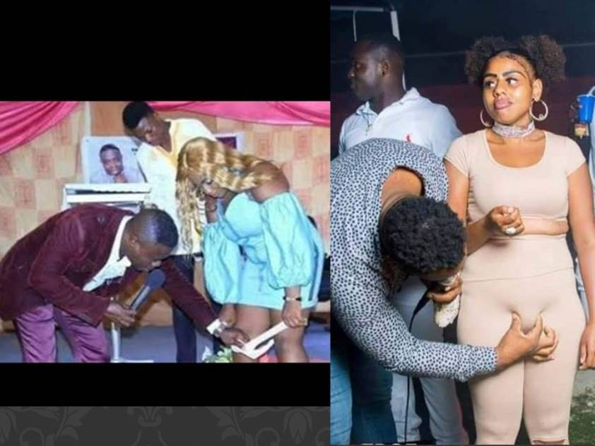 Pastor checks her something to deliver her from bareness