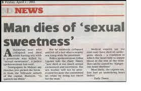Man dies of 'sexual sweetness': Malawi Police say prostitute committed no crime for being too sweet